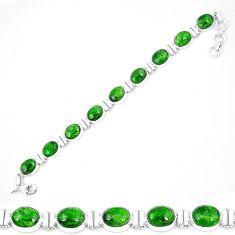 925 sterling silver natural green chrome diopside tennis bracelet k74054