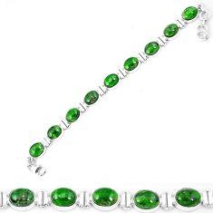 Natural green chrome diopside 925 sterling silver tennis bracelet k74055