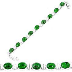 Natural green chrome diopside 925 sterling silver tennis bracelet k74056
