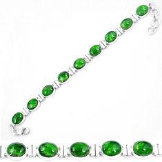 Natural green chrome diopside 925 sterling silver tennis bracelet k74058