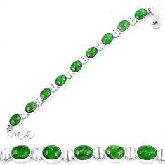 Natural green chrome diopside 925 sterling silver tennis bracelet k74059