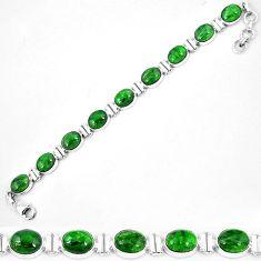 925 sterling silver natural green chrome diopside tennis bracelet k74060