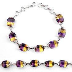 Multi color ametrine (lab) 925 sterling silver tennis bracelet jewelry k83170