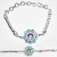 Purple alexandrite (lab) topaz 925 sterling silver bracelet jewelry k83358