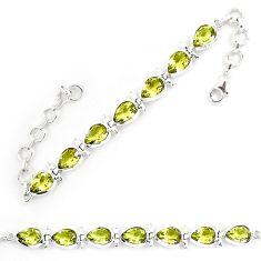 Natural lemon topaz 925 sterling silver tennis bracelet jewelry k85151