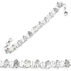 Natural white herkimer diamond 925 sterling silver tennis bracelet k85771