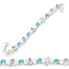 Natural white herkimer diamond topaz 925 silver tennis bracelet jewelry k85774