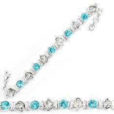 925 silver natural white herkimer diamond topaz tennis bracelet k85776