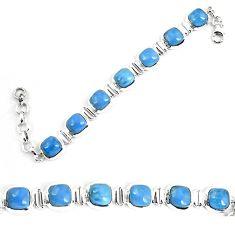Natural blue owyhee opal 925 sterling silver bracelet jewelry k86647