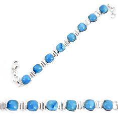 Natural blue owyhee opal 925 sterling silver bracelet jewelry k86655