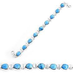 Natural blue owyhee opal 925 sterling silver bracelet jewelry k86657