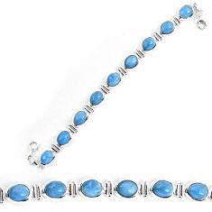 Natural blue owyhee opal 925 sterling silver bracelet jewelry k86658