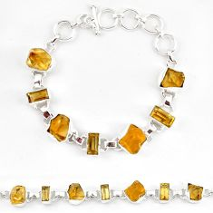 925 sterling silver natural lemon topaz fancy bracelet jewelry k90551