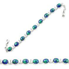 925 sterling silver natural green azurite malachite bracelet jewelry m24984