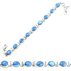 925 sterling silver natural blue owyhee opal tennis bracelet jewelry m29350