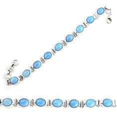 925 sterling silver natural blue owyhee opal tennis bracelet jewelry m29354
