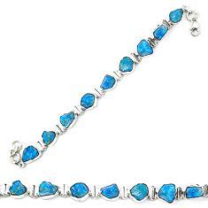 925 sterling silver blue apatite rough fancy tennis bracelet jewelry m29810