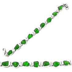 925 sterling silver green chrome diopside rough tennis bracelet jewelry m29820