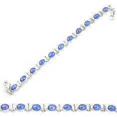 925 sterling silver natural blue tanzanite tennis bracelet jewelry m35435