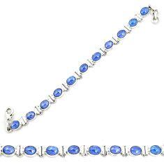 Natural blue tanzanite 925 sterling silver tennis bracelet jewelry m35440