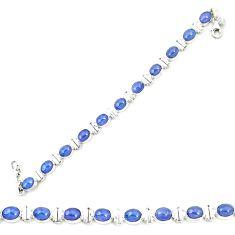 Natural blue tanzanite 925 sterling silver tennis bracelet jewelry m35455