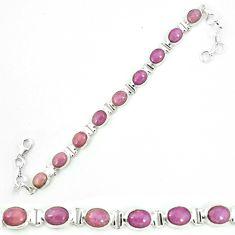 925 silver natural purple phosphosiderite (hope stone) tennis bracelet m8652