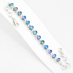 925 silver 21.04cts natural multi color ethiopian opal tennis bracelet r76224