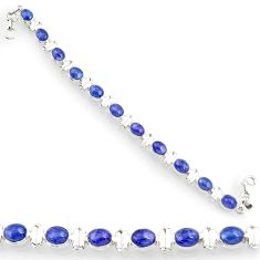 925 silver 24.20cts natural blue tanzanite oval tennis bracelet jewelry d44357