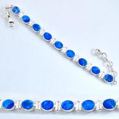 925 silver 19.54cts natural brown doublet opal australian tennis bracelet r60938