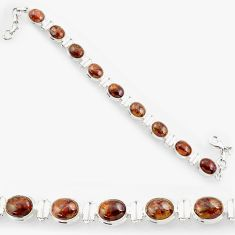 Clearance Sale- 925 silver 38.31cts natural brown pietersite (african) tennis bracelet d44316