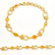 925 silver 5.09cts natural ethiopian opal 14k gold tennis bracelet r31448