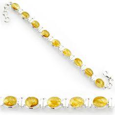 cts natural golden tourmaline rutile tennis bracelet d44378