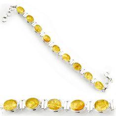 cts natural golden tourmaline rutile tennis bracelet d44390
