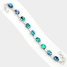925 silver 28.60cts natural green abalone paua seashell tennis bracelet r84260