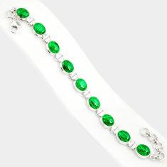 925 silver 40.77cts natural malachite (pilot's stone) tennis bracelet r84276