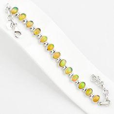 925 silver 20.22cts natural multi color ethiopian opal tennis bracelet r75274