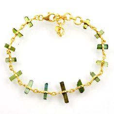 925 silver 14.06cts natural multi color tourmaline tennis bracelet r33277