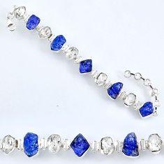 925 silver 57.88cts natural tanzanite rough herkimer diamond bracelet r61755