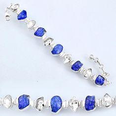 925 silver 54.07cts natural tanzanite rough herkimer diamond bracelet r61757