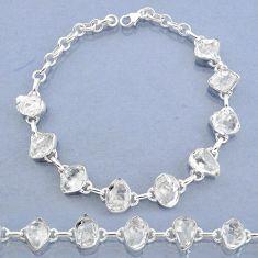 925 silver 37.08cts natural white herkimer diamond fancy tennis bracelet t7755
