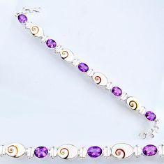925 silver 31.58cts natural white shiva eye amethyst tennis bracelet r56559