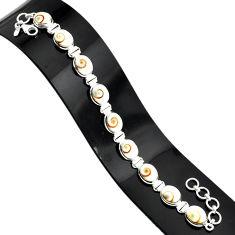 925 silver 35.38cts natural white shiva eye oval shape tennis bracelet r84344