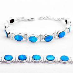 925 silver 19.52cts tennis natural blue doublet opal australian bracelet t45343