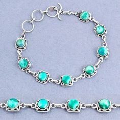 925 silver 16.77cts tennis natural green turquoise tibetan round bracelet t8409