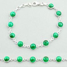 925 silver 24.65cts tennis natural malachite (pilot's stone) bracelet t40297
