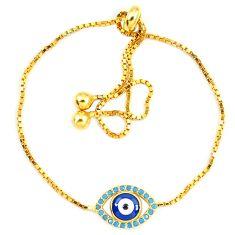 925 sterling silver blue evil eye talismans turquoise 14k gold bracelet c20574