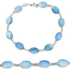 925 sterling silver blue pearl enamel tennis bracelet jewelry a56019 c13849