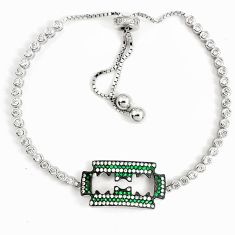 925 sterling silver 8.20cts green emerald (lab) topaz necklace a94899 c24262