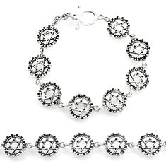 925 sterling silver 19.26gms indonesian bali style solid bracelet jewelry r72993