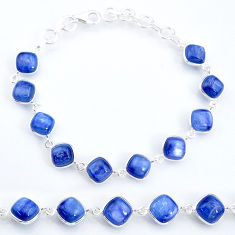 925 sterling silver 31.53cts natural blue kyanite tennis bracelet jewelry t16144